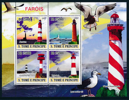 NB - [400678]TB//**/Mnh-Sao Tomé-et-Principe 2009 - Phares, Oiseaux - Lighthouses