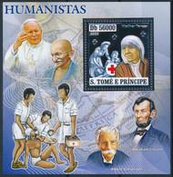 NB - [401425]TB//**/Mnh-Sao Tomé-et-Principe 2006 - Grands Humaniste, Pape, Mahatma Gandhi, Mère Teresa, Argent - Prix Nobel
