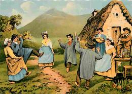 Folklore - Danses - Types D'Auvergne - La Bourrée - CPM - Voir Scans Recto-Verso - Dances