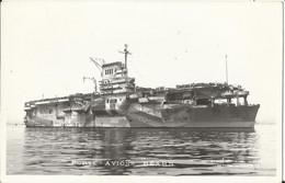 """Militaria - Bâteau - Navire De Guerre - Porte-Avions """"BEARN"""" Genre Carte-photo, éd. Mercier à Toulon - Equipment"""