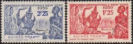 Détail De La Série Exposition Internationale De New York Obl. Guinée Française N° 151 Et 152 - 1939 Exposition Internationale De New-York
