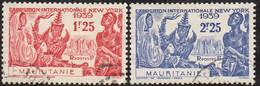 Détail De La Série Exposition Internationale De New York Obl. Mauritanie N° 98 Et 99 - 1939 Exposition Internationale De New-York