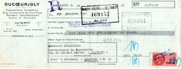 Lettre De Change Du 31.10.1947 Luisant 28 SCIERIE A VAPEUR DUCOEURJOLY-  A Prendre En L Etat Perforée - Bois - 1900 – 1949