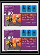 France N°3001 Institut Recherche Agronomique Agronomic Agronomie Non Dentelé ** MNH (Imperf) Paire - Imperforates