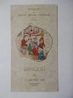Menu - Banquet 1956 Du Syndicat Des Patrons Pâtissiers Confiseurs De La MOSELLE - Menu Illustration BERGERON PARIS - Menus