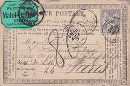 Lot De 3 Cartes Precurseurs Avec Etiquettes - 1849-1876: Periodo Classico