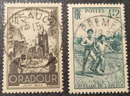N° 742/740  Avec Oblitération Cachet à Date Centrale De 1948  TB - Used Stamps