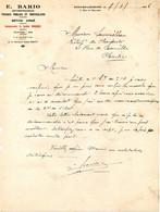 ENGHIEN LES BAINS ETS E.BARIO Travaux Publics Beton Courrier Du 07 Juillet 1936 - à Prendre En L Etat Perforée - Bois - 1900 – 1949