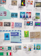 NATIONS UNIES ONU UNITED NATIONS - Lot De 369 Enveloppes Et Cartes Premier Jour FDC Cover Issue Maximum Card Flag Series - Collections, Lots & Series