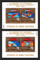 183 Guinée équatoriale Guinea Bloc N°70/71 Copernic Copernicus Kopernik COTE 50E Blocs Numerotés Espace Space - Equatorial Guinea