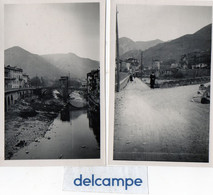 2 Photos Anciennes -  SOSPEL  (06)   Le Vieux Pont   ( Années 30) - Places