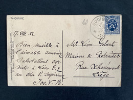 POSTKAART Uitgifte Heraldieke Leeuw - RELAIS GODINNE - 1929-1937 Lion Héraldique