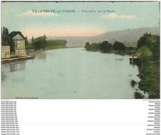 89 VILLENEUVE SUR YONNE. Vue Prise Sur Le Pont 1923 - Villeneuve-sur-Yonne