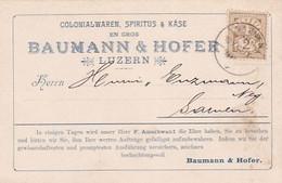 Luzern - Baumann & Hofer, Spiritus & Käse - 1902     (P-352-10512) - LU Lucerne