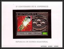 86171/ Guinée équatoriale Guinea Mi N°99 5 Centenario Copernico Copernic Copernicus OR Gold ** MNH Espace (space) - Equatorial Guinea
