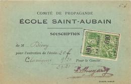 Belgique - Namur - Carte Du Comité De Propagande De L'Ecole Saint-Aubin - Souscription - Namur