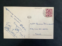 POSTKAART Uitgifte Klein Staatswapen - RELAIS VIERVES - 1935-1949 Petit Sceau De L'Etat