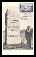 7570 922 Bataille De Narvik 1952 France Carte Maximum (card) - 1950-59