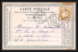 8726 LAC 1875 N 55 Ceres 15c GC 1307 Dijon Cote D'Or 1875France Precurseur Carte Postale (postcard) - Tarjetas Precursoras