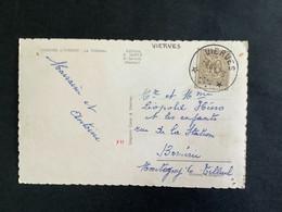 POSTKAART Uitgifte Heraldieke Leeuw - RELAIS VIERVES - 1951-1975 Lion Héraldique