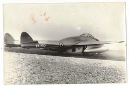 AVIATION PACA AERODROME NICE AOÛT 1953 TRANSPORTS AVION : LE WA 252 AVION VAMPIRE - VIEILLE VERITABLE PHOTO NON DENTELEE - Aviation