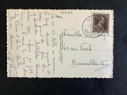 POSTKAART Uitgifte Leopold III Open Kraag - RELAIS VIERVES - 1936-1957 Col Ouvert