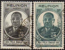 Réunion Obl. N° 260 Et 261 - Gouverneur - Général Félix Eboué - Oblitérés