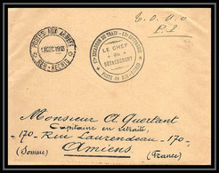 6620 Chaouia Ber Rechid Train Des équipages Militaires 17ème Escadron 12ème Cie 1913 Lettre Cover France Guerre Maroc - Military Postmarks From 1900 (out Of Wars Periods)