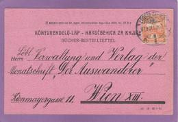 """BÜCHERZETTEL AUS ZAGREB  AN DER MONATSZEITSCHRIFT """"DER AUSWANDERER"""" IN WIEN. - Lettere"""