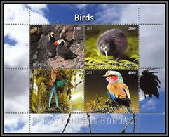 1135/ Bloc Oiseaux (bird Birds Oiseau) Neuf ** MNH Tirage Privé Vignette Perroquets Parrots Pufin Kiwi... - Konvolute & Serien