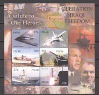 Palau 2003 Kleinbogen Mi 2244-2249 MNH WAR IN IRAQ - AIRPLANES - TANKS - SHIPS - Airplanes