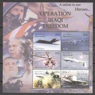 Micronesia 2003 Kleinbogen Mi 1427-1432 MNH WAR IN IRAQ - AIRPLANES - TANKS - SHIPS - Airplanes