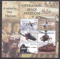 Micronesia 2003 Kleinbogen Mi 1421-1426 MNH WAR IN IRAQ - AIRPLANES - TANKS - HELICOPTERS - Airplanes