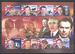 Grenada 2003 Kleinbogen Mi 5289-5296 MNH WAR IN IRAQ - AIRPLANES - TANKS - SHIPS - Ships