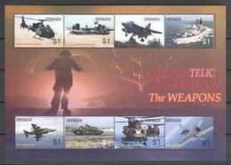 Grenada 2003 Kleinbogen Mi 5281-5288 MNH WAR IN IRAQ - AIRPLANES - TANKS - SHIPS - Airplanes