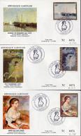 GABON A 146/48 Fdc Claude Monet, Edgar Degas, Auguste Renoir - Impressionismo