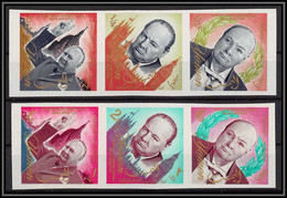 Yemen Royaume (kingdom) - 4005/ N°153/158 B Winston Churchill ** MNH 1965 Non Dentelé Imperf Cote 28 Euros - Sir Winston Churchill