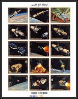 Yemen Royaume (kingdom) - 4170/ N°726/740 B OR Gold Espace Space Mission Moon Apollo 1969 Neuf ** MNH Non Dentelé Imperf - Yemen