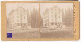Hôtel De La Forêt -Rare Photographie Stéréoscopique 1911 Les Tines à Chamonix Mont-Blanc - Photo Stéréo Chemin Fer C4-44 - Old (before 1900)