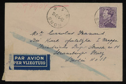 TREASURE HUNT [00525] Belgium 1943 Air Mail Cover From Mons To Berlin Bearing 2fr Violet Single Franking - Luchtpost