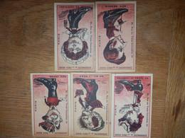 (32)   Lot De 5 Chromos Cordonnerie De La Croix Rouge - Sonstige