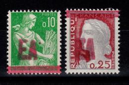 Algerie - YV 354 & 355 N** Luxe , Surcharge Manuelle Rouge EA Etat Algerien - Algeria (1962-...)