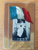 Montbéliard - Diaichotte Au Rouet L'après-midi Du Dimanche, Costume, Filage De La Laine  - Deco (used, 1903)  [N014] - Montbéliard