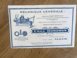 BUVARD MECANIQUE GENERALE EMILE DORDRON - Auto's
