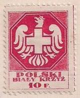 WW1 ERA CINDERELLA - VIGNETTE- POLAND POLSKI 10f Coat Of Arm Crest Eagle Bird Extra Rare - Erinnophilie