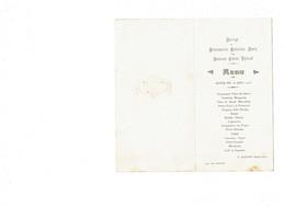 Menu - Diner 1925 - Restaurateur F. BAUDON - Juvisy Imp. Leprunier - Menükarten