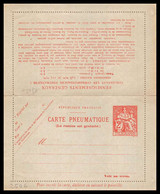17030 France Entier Postal Stationery Pneumatique N°CHA Q 1 1938 YVert 2606 - Neumáticos