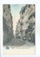Liège Rue Pont D'le Centre Carte Colorisée - Spa