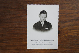 5416/André BERNARD -BRUXELLES 1946/OCQUIER 1959 - Décès
