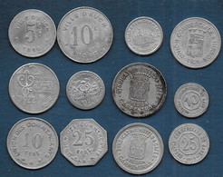 Lot De 12  Monnaies - Monetari / Di Necessità